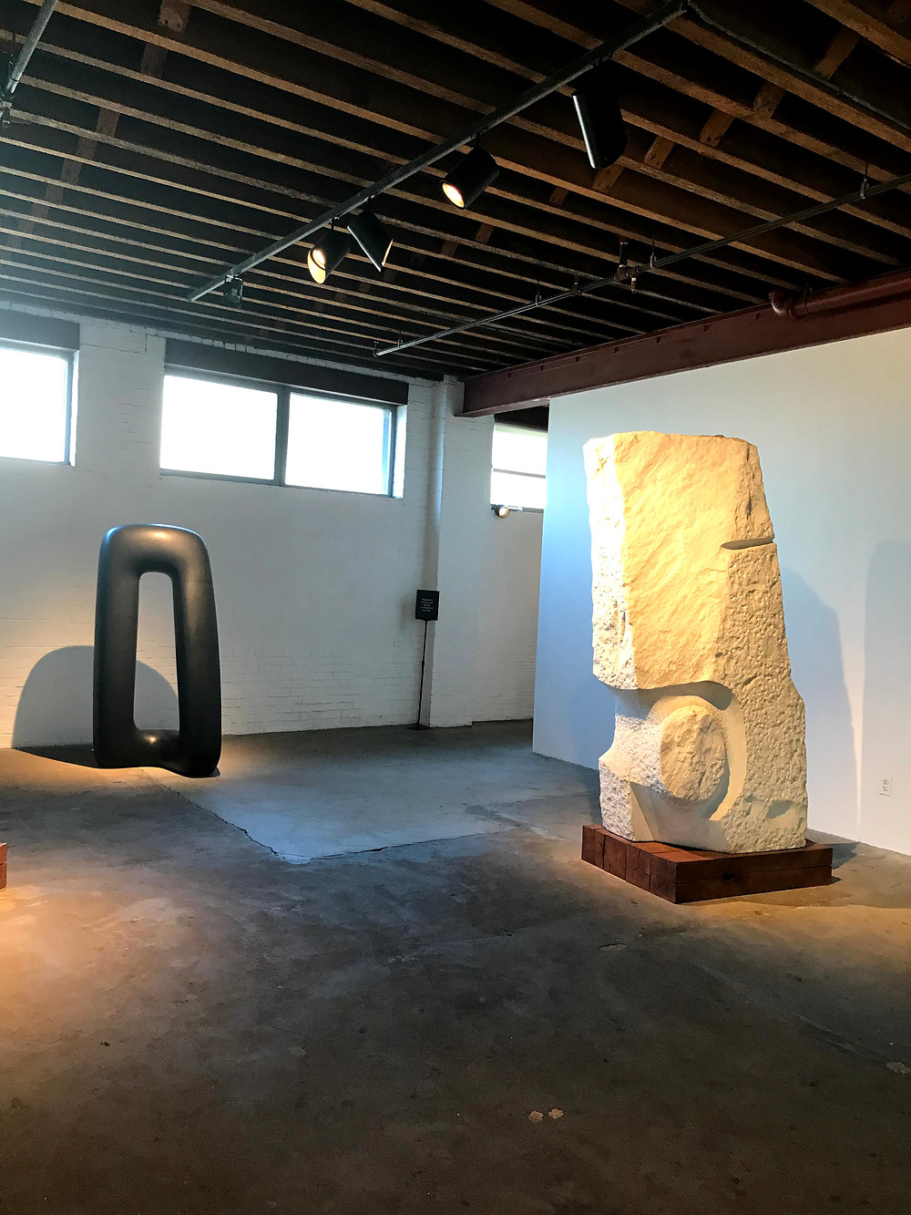 Noguchi sculpture museum in New York City, stone and wood sculptures