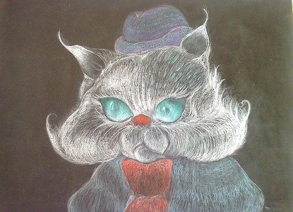 """Pintura a óleo """"Sr Gato"""""""
