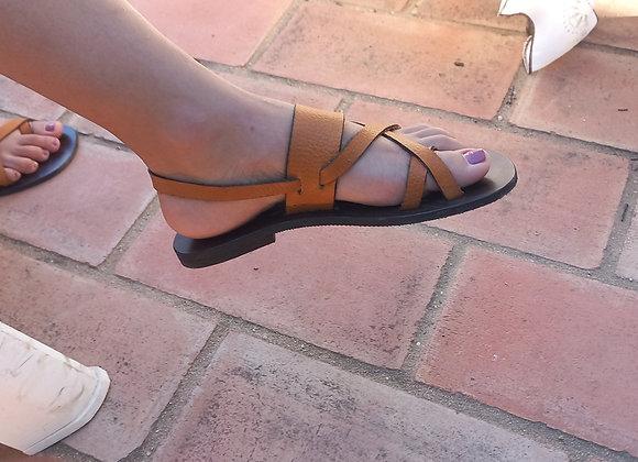 Sandália em couro personalizada (mulher)