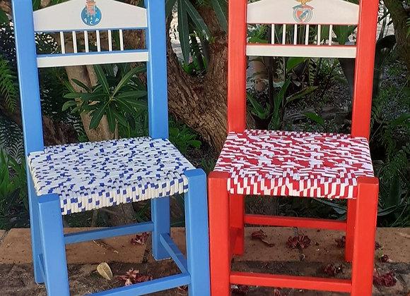 Cadeiras de criança - Vermelho e azul