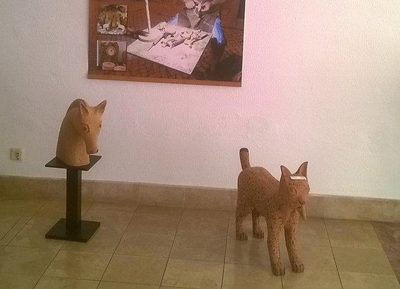 Esculturas em cortiça