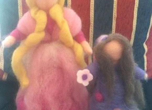 Bonecas e fada feitas com lã de Marino