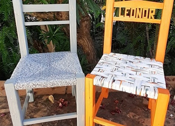 Cadeiras de criança -  Laranja e cinzento