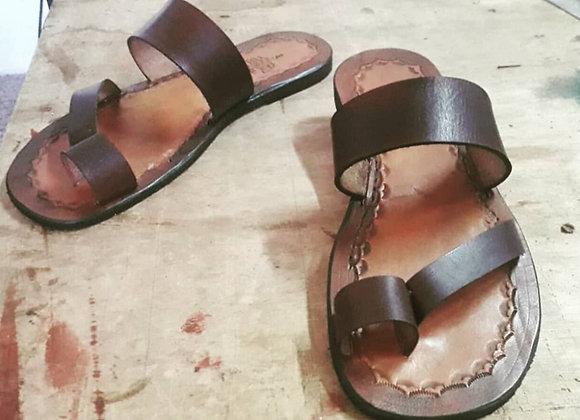 Sandália em couro personalizada (homem)