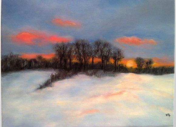 "Pintura a óleo ""O inverno"""