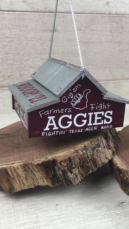 Hanging Musical Ornament - Texas A&M Barn