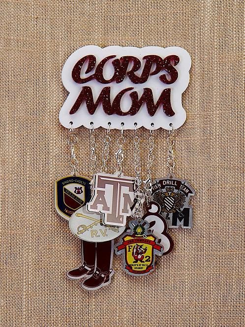Badges & Charms - Gig'em Aggies, Aggie Mom, Corps Mom