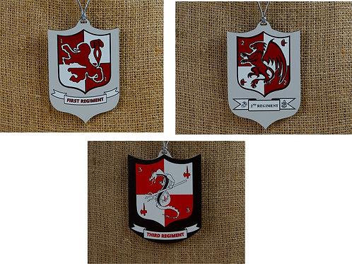 Ornaments -1st Regiment, 2nd Regiment, 3rd Regiment