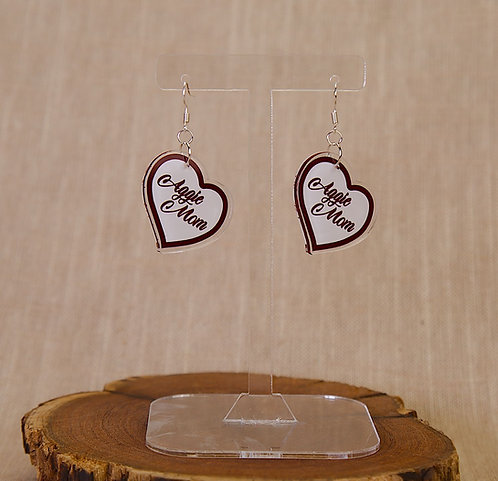 Earrings - Aggie Mom Hearts