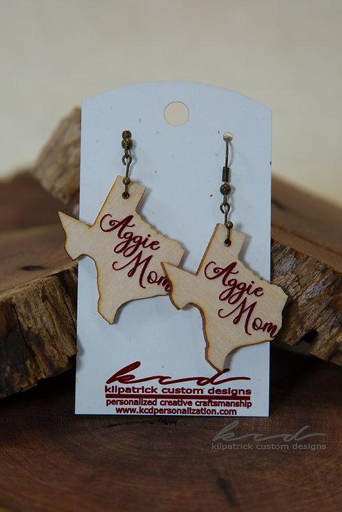Earrings - Texas Aggie Mom