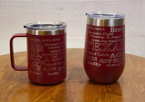 Tumblers - Texas A&M Coffee Mug and Wine