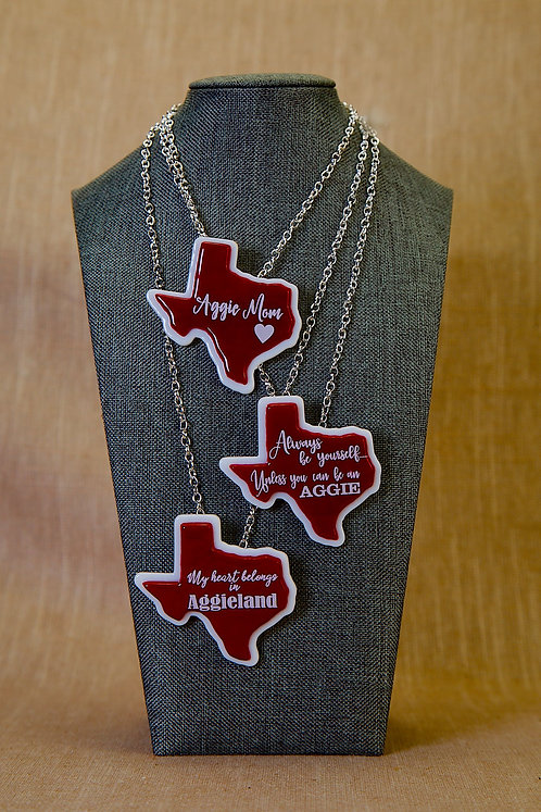 Necklaces -Stained Glass Texas