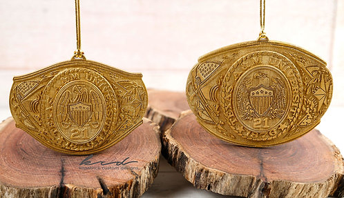Ornaments - 3D Aggie Ring with Class Year