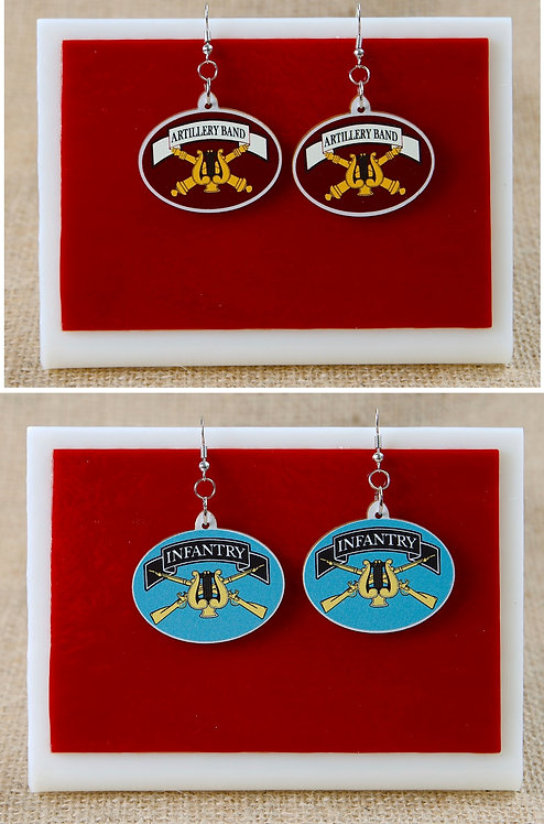 Earrings -Artillery and Infantry Bands