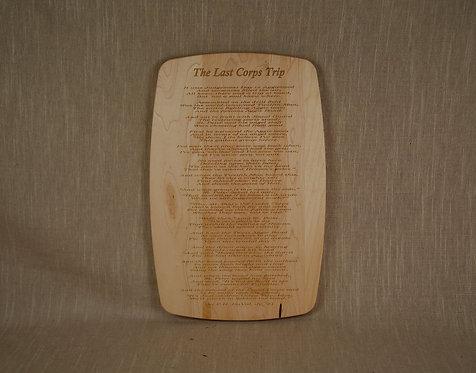 Cutting Board -The Last Corps Trip