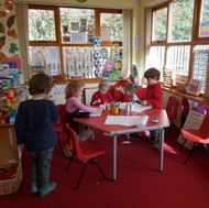 Red room writing and maths area