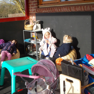 Outdoor role play area.