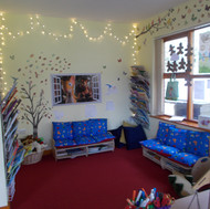 Our newly decorated quiet/book area.