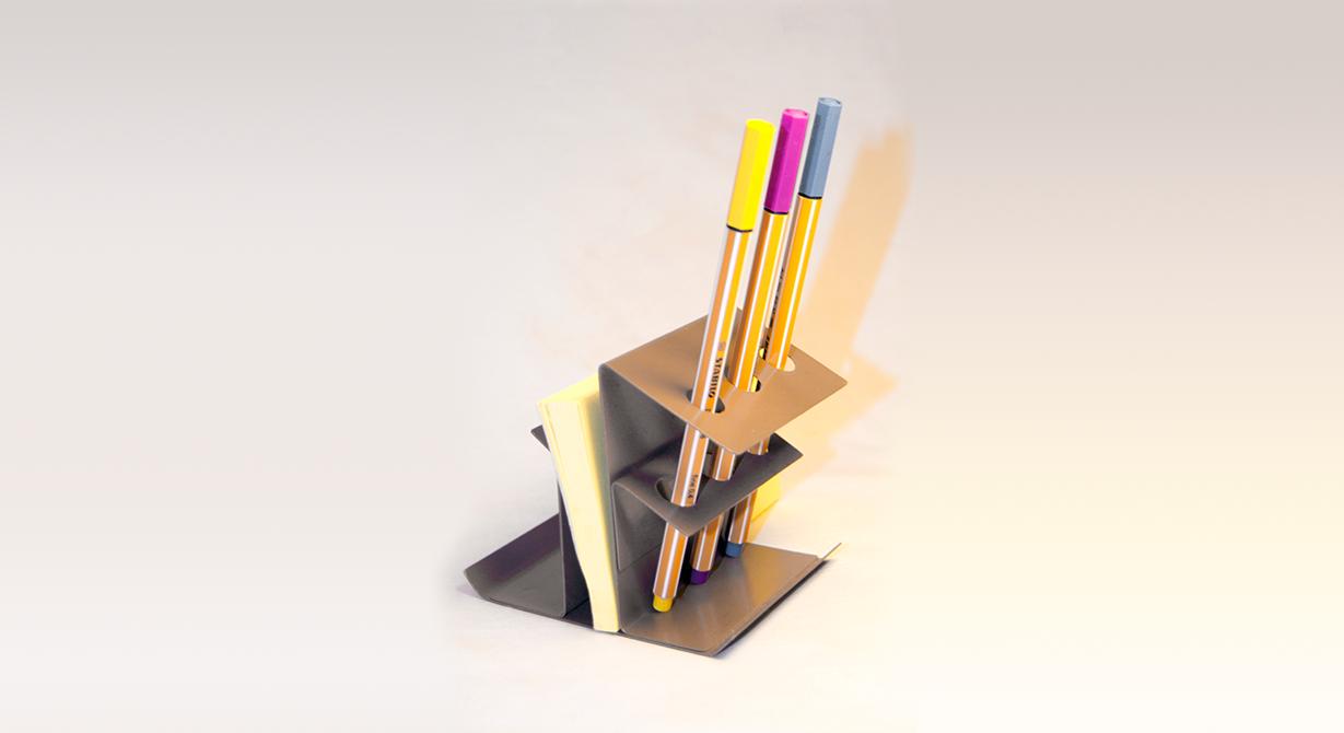 Ghazaleh Afrahi metal pen holder