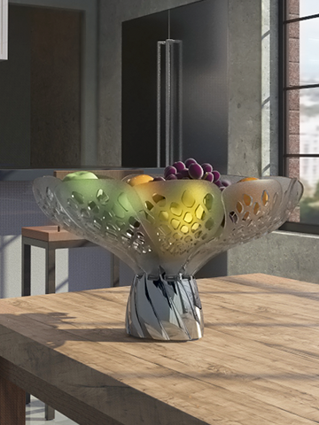 Blossom dynamic fruit bowl
