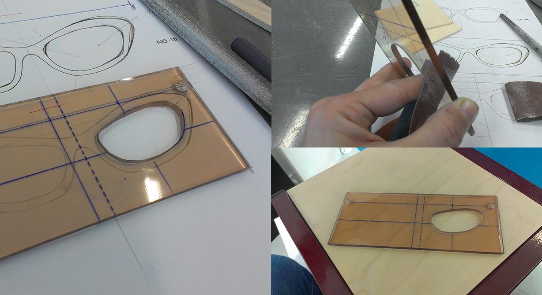 Preparing the lens holes