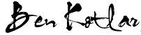 Ben Kotlar | Signature Logo