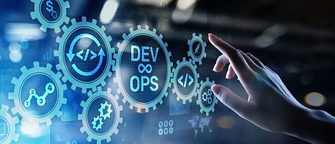 DevOps Agile development concept on virt