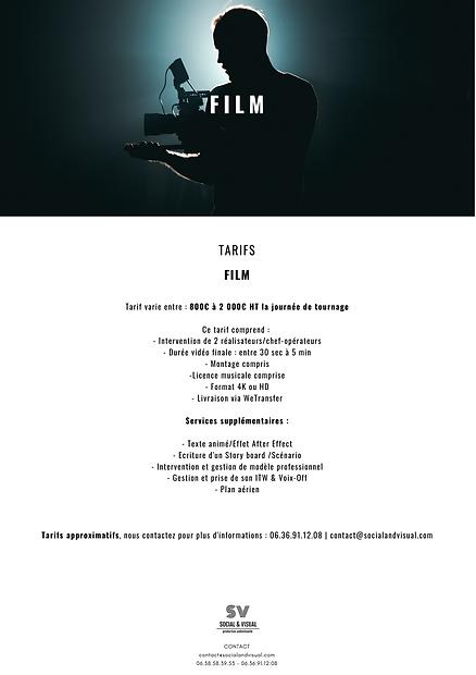 Tarifs S&V Film