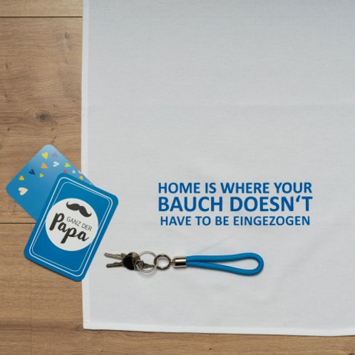 HOME IS WHERE YOUR BAUCH DOESN´T HAVE TO BE EINGEZOGEN/ Geschirrtuch