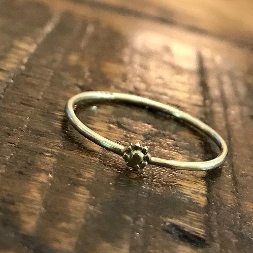 zarter Blütenring 585 Gelbgold