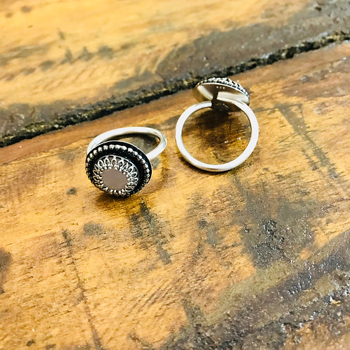"Ring ""Dirndl"" Rosenquarz"