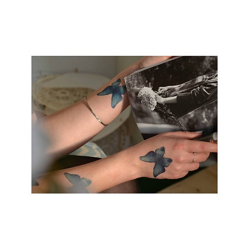 Schmetterling Blau / 5 Stück NonPermanent Tattoo