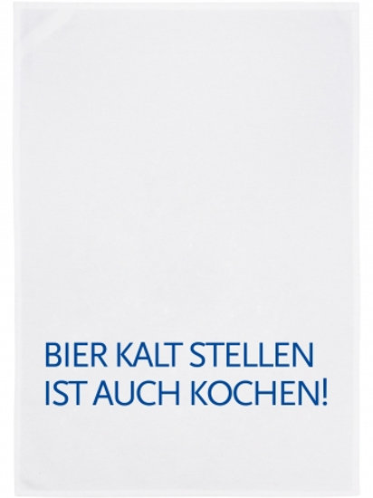 BIER KALT STELLEN IST AUCH KOCHEN/ Geschirrtuch