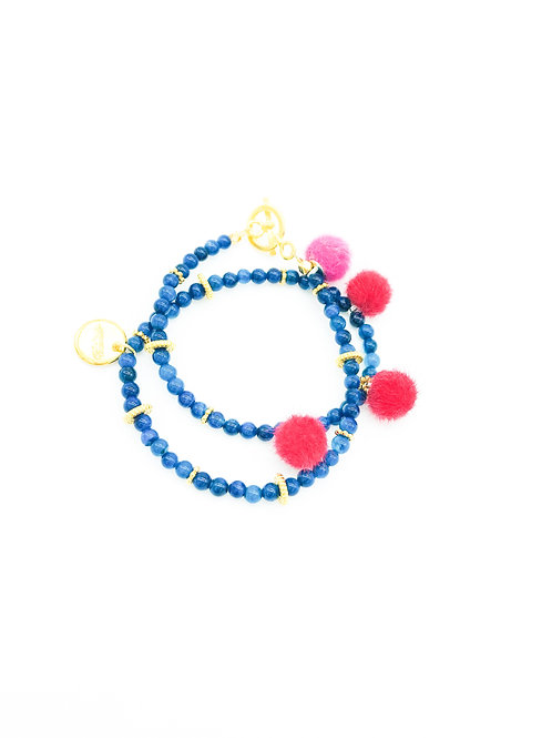 Wickelarmband Gipsy Blau