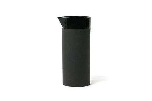Wasserkaraffe Keramik Schwarz