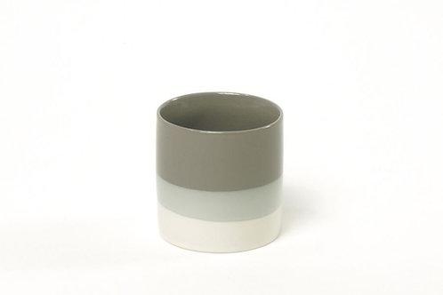 Teetasse Farbverlauf Grau/Weiß