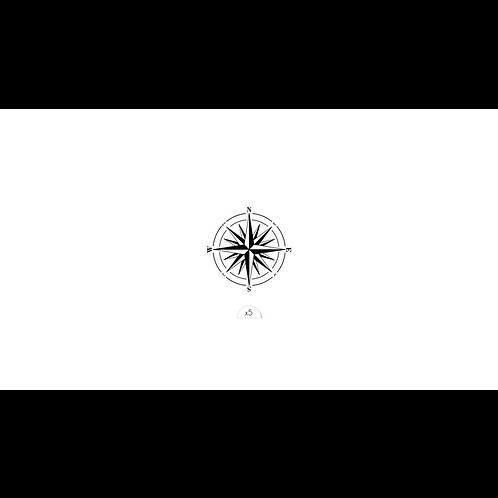 Kompassrose / 5 Stück NonPermanent Tattoo