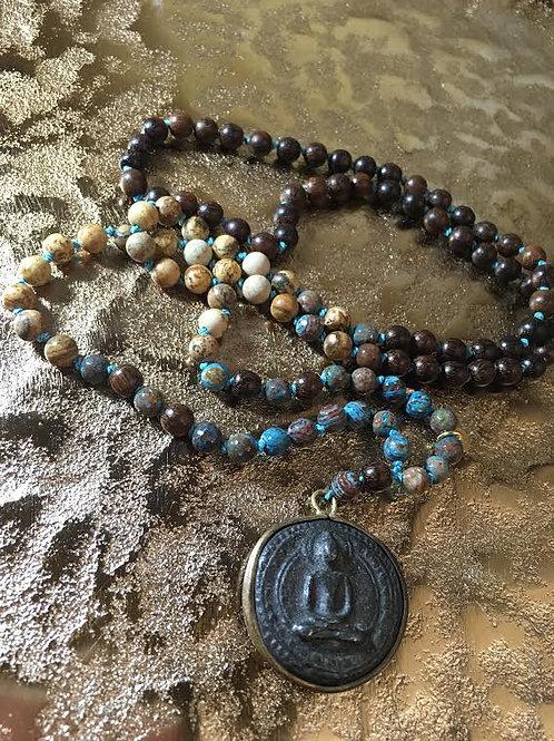 """Mala mit Buddha-Coin """"Balance & Stabilität"""""""
