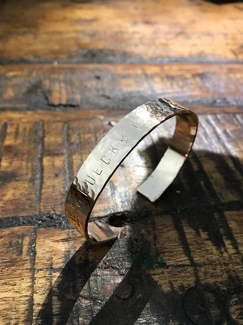 Bangle mit Wunschtext aus Bronze