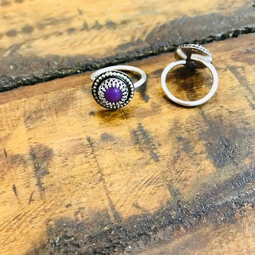 """Ring """"Dirndl"""" Heterosit (Purpurit)"""