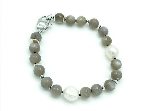 Mondstein & Perlen Armband