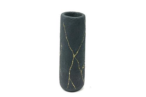 Vase aus Pappmaché Kintsugi Style