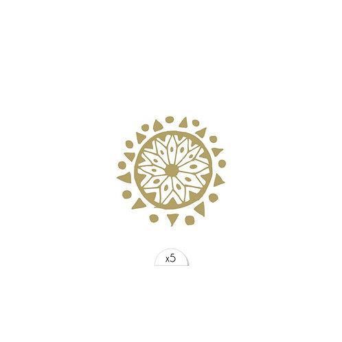 Goldenes Mandala / 5 Stück NonPermanent Tattoo