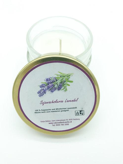 Sojawachskerze Lavendel