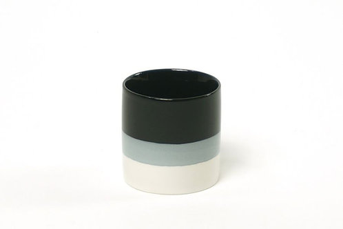 Teetasse Farbverlauf Schwarz/Weiß
