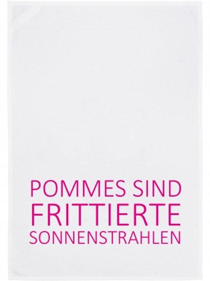 POMMES SIND FRITTIERTE SONNENSTRAHLEN/ Geschirrtuch