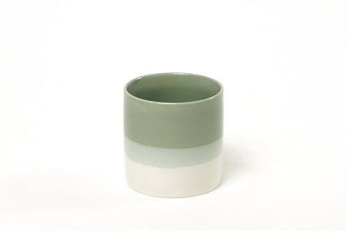 Teetasse Farbverlauf Jadegrün /Weiß