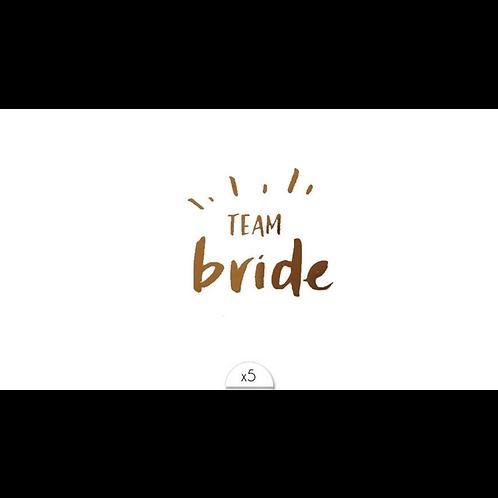 Team Bride  / 5 Stück NonPermanent Tattoo