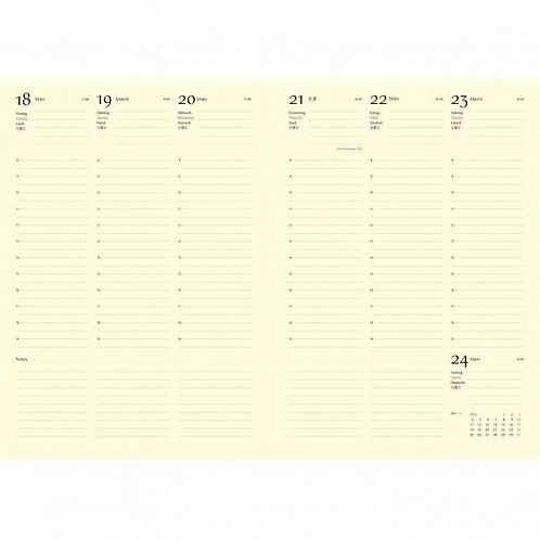 Kalender 2021 CONTEMPORARY schwarz | 17 x 24 cm, 1 Woche/Doppelseite
