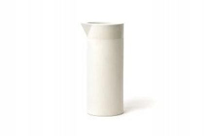 Wasserkaraffe Keramik Weiß